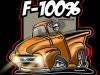 56 FORD truck TSHIRT ORANGE